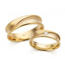 """Par de alianças de casamento """"Waves"""""""