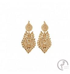 Brincos de Rainha em prata dourada