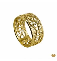 Anel de ouro  em Filigrana