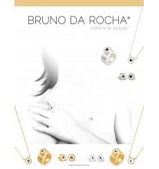 Anel em prata dourada Bruno da Rocha