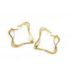 Brincos em prata dourada Bruno da Rocha